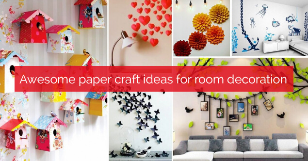 Room Decoration Ideas With Paper Craft Leadersrooms